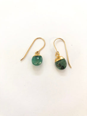 Emerald Nugget Earrings
