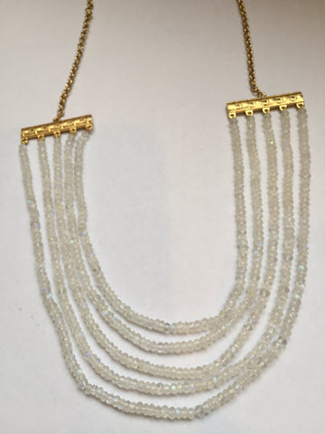 Moonstone Watefall Necklace