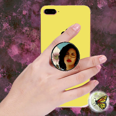 Short Hair Don't Care Selena Pop Socket