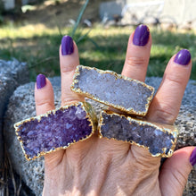 Amethyst Two-Finger Ring