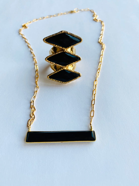 Onyx Bar Necklace