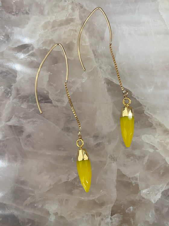 Yellow Agate Earrings