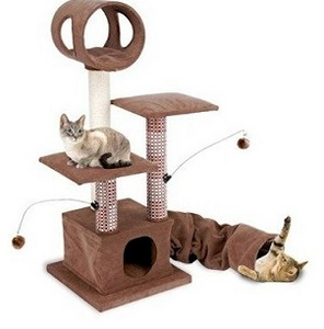 Cat Activity Lounging Tower with Tunnel and Hide Away