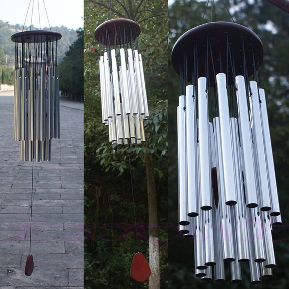 27 Tubes Silver Church Wind Chimes