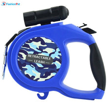New 110 pound Large Retractable Extending Dog Leash - Big and Medium Dog with LED