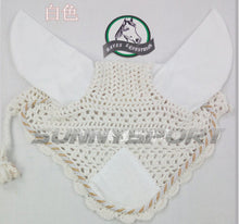 Headgear for horses -Hand crochet mask with Rhinestone decoration