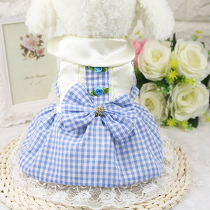Summer Dog Dress: Soft Cotton Princess Plaid / 3 Colors, 6 Sizes