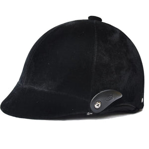 Horse Riding Helmet- Black Half-covered / 54-60cm, Adjustable