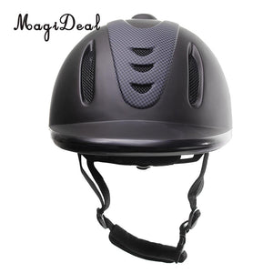 Child Horse Riding Helmet - Black, Half Cover Style