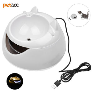 Cat Drinking Fountain with Night Light