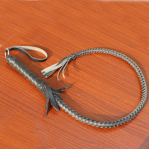 Hand-Made Braided Riding Whips - 3 Colors