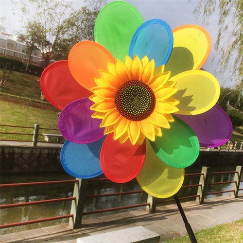Sunflower Windmill Colourful Wind Spinner