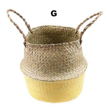 Rattan Folding Basket Flower Pot - Multiple colors, 3 sizes