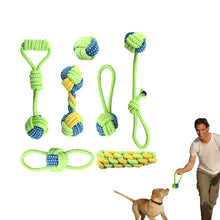 Cotton Rope Dog Toy Set -7 Pcs -Chew, Interactive, Tooth Cleaning, Throwing, Bite Toys