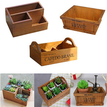 Garden Planter for Succulent Plants - Wooden Window Box - 3 Styles