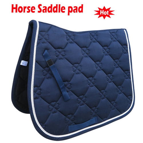 Horse saddle pad - polyester, with hand strap