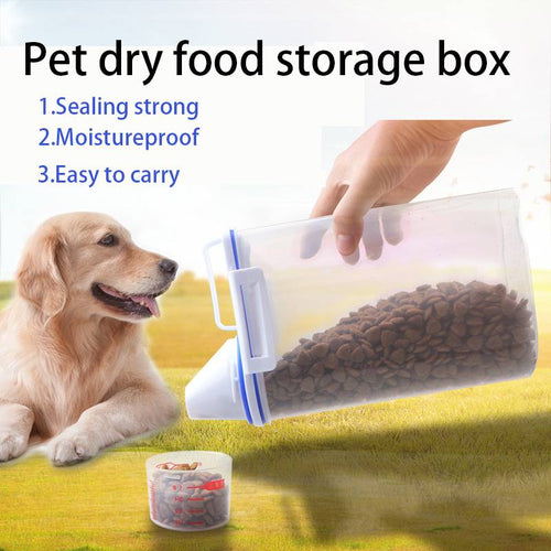 Pet Food Storage Container With Small Size Graduated Cup For Dry Food Dispenser