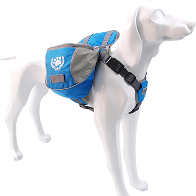 Dog Backpack in Reflective Nylon - Zipper Bag Pocket