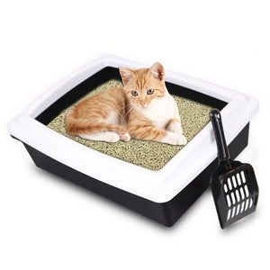 Large Size Semi-closed Cat Litter Box - Anti-Splash Bedpan