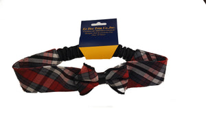MVCS Plaid Elastic Headband