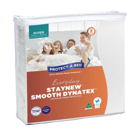 PROTECT-A-BED Staynew Smooth Dynatex Fitted Waterproof Mattress Protector (All Sizes)