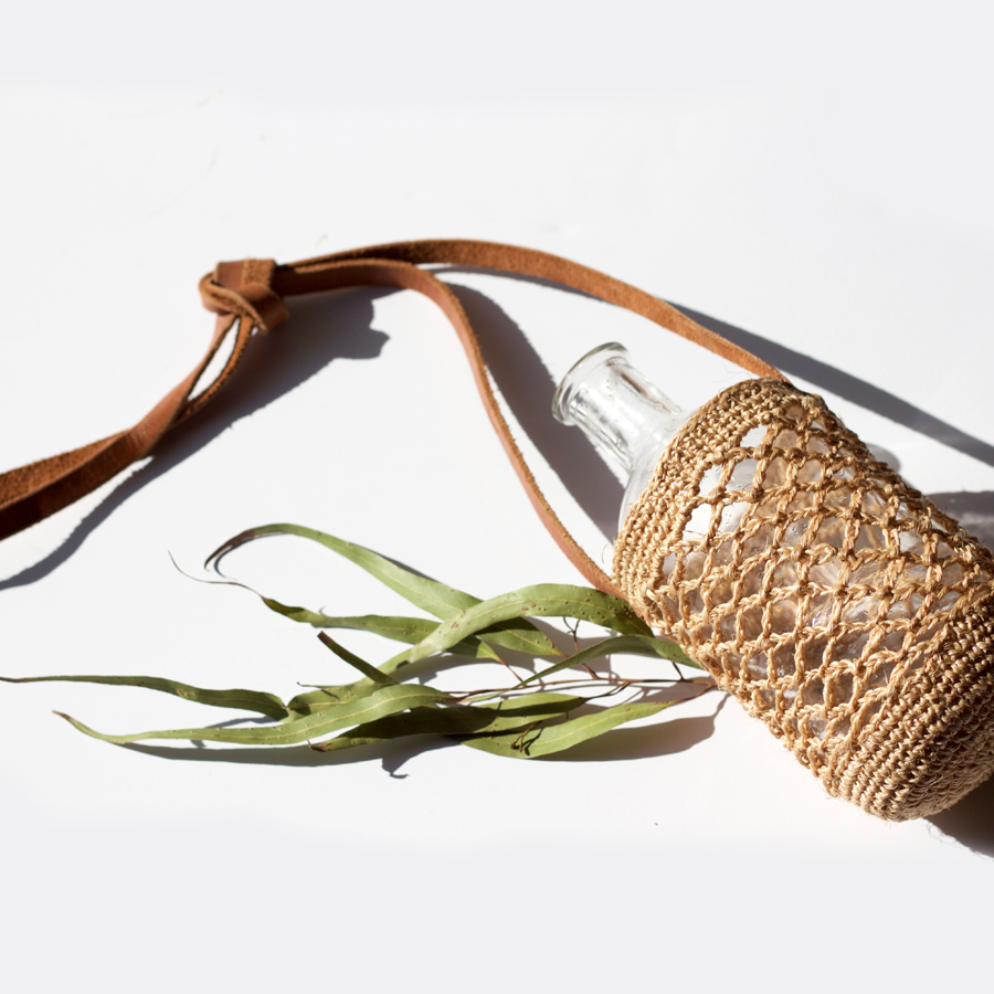 Jessy - Natural Fiber Water Bottle Holder [PREORDER]