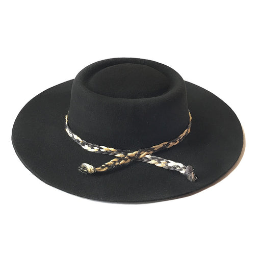 Zoila Boater Hat - Black