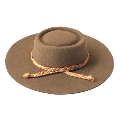 Zoila Boater Hat - Tan