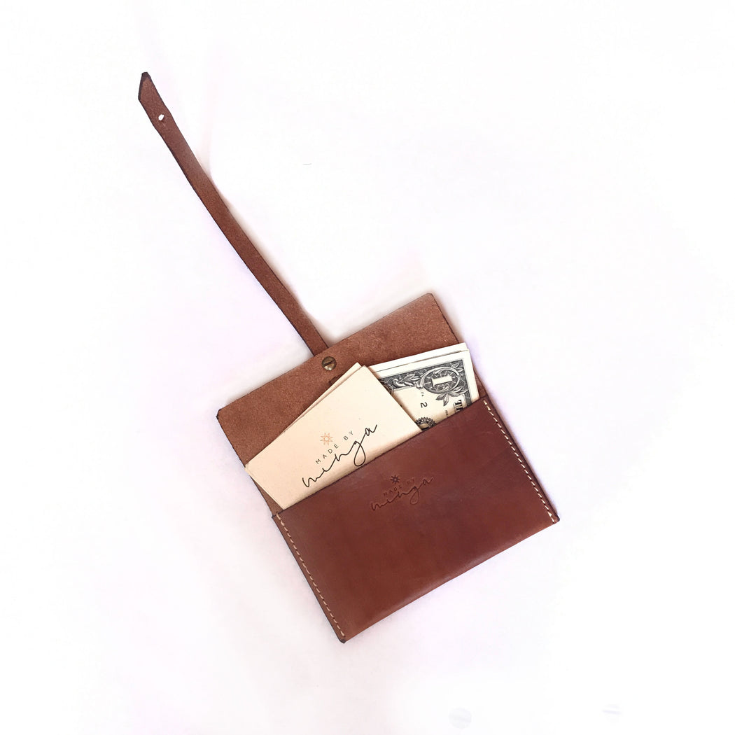 Medium Leather Wrap Wallet