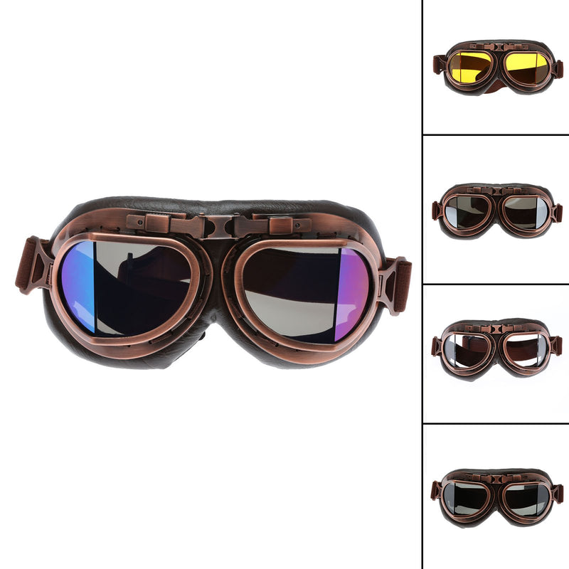Retro Aviator Pilot Cruiser Steampunk ATV Bike Glasses