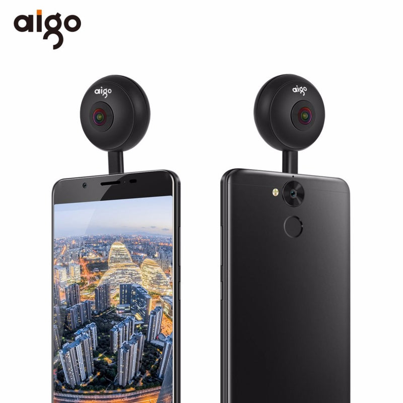 Mini Panoramic Dual Lens Camera 720 Degree  For Smartphone