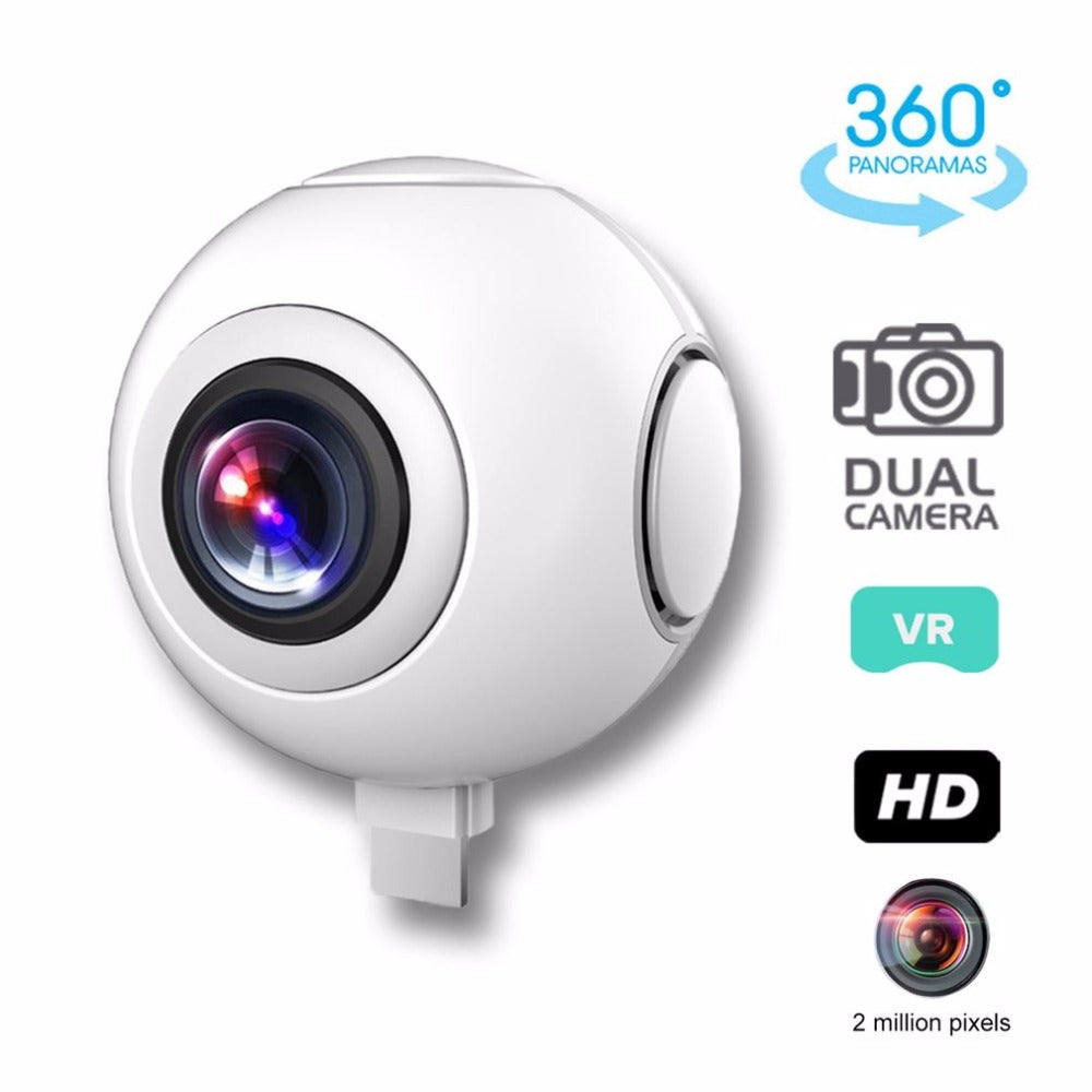 T-750 720 degree Panoramic Camera HD Dual Wide Lens Video Camera for Android Wireless VR Action Sports Outdoor Activities Camera