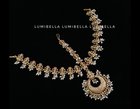 three layered maang tikka -lumibella fashion