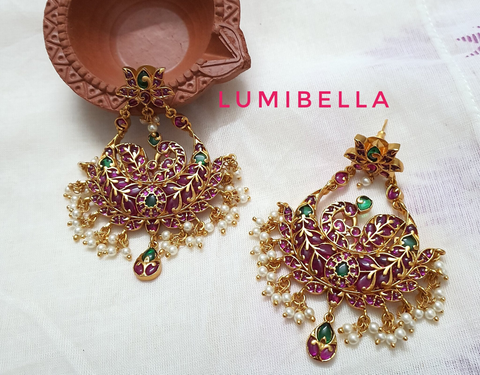 chandbali kemp earrings
