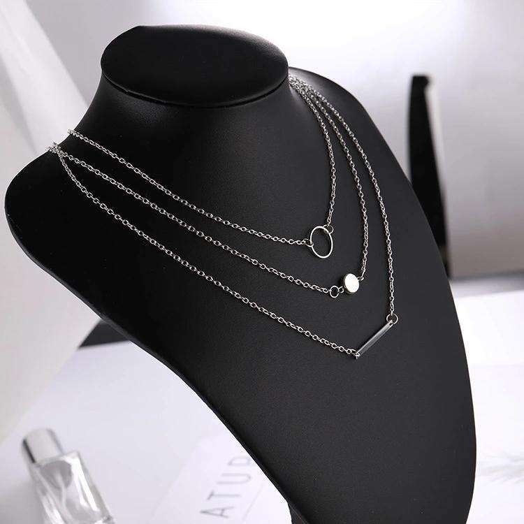 Stylish 3 layered Fashion Choker Neckset