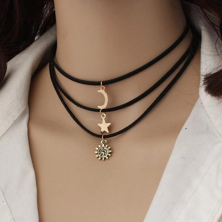 Three Layer Fashion Choker Neckset