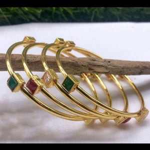 Gold Polish American Diamond Bangles
