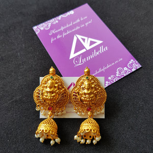 Temple style hanging earring