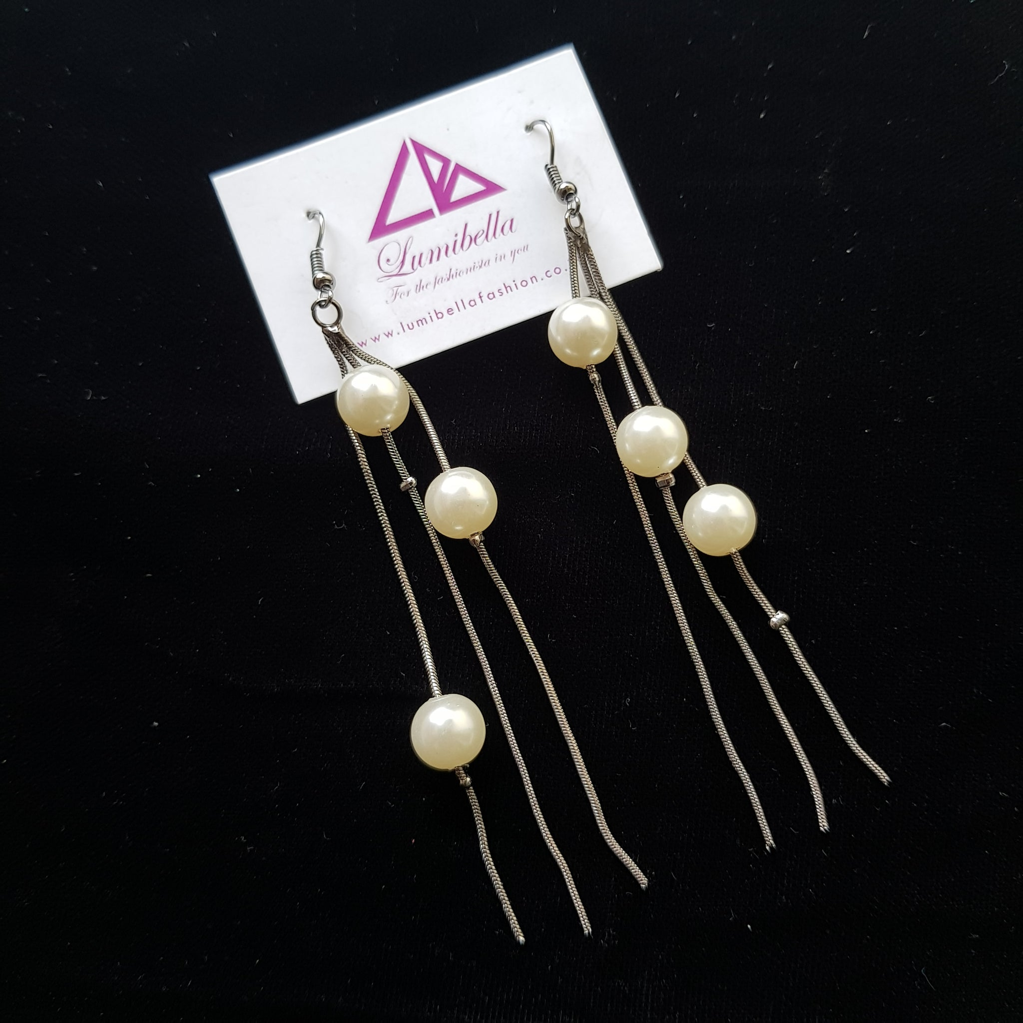 Pearl styled fashion earrings