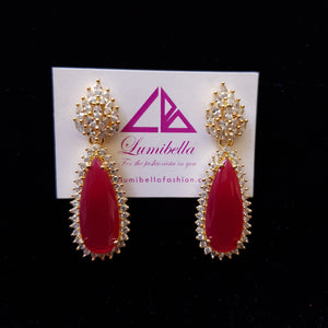 Oval shaped Designer Earrings