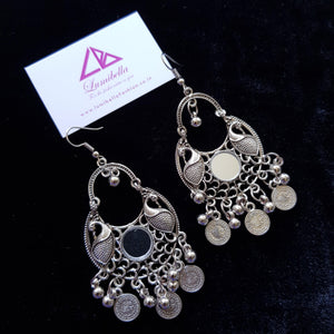 Oxidised Chandbali Earrings