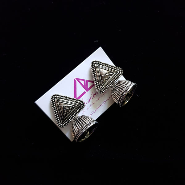 Triangle Shaped German Silver Earring