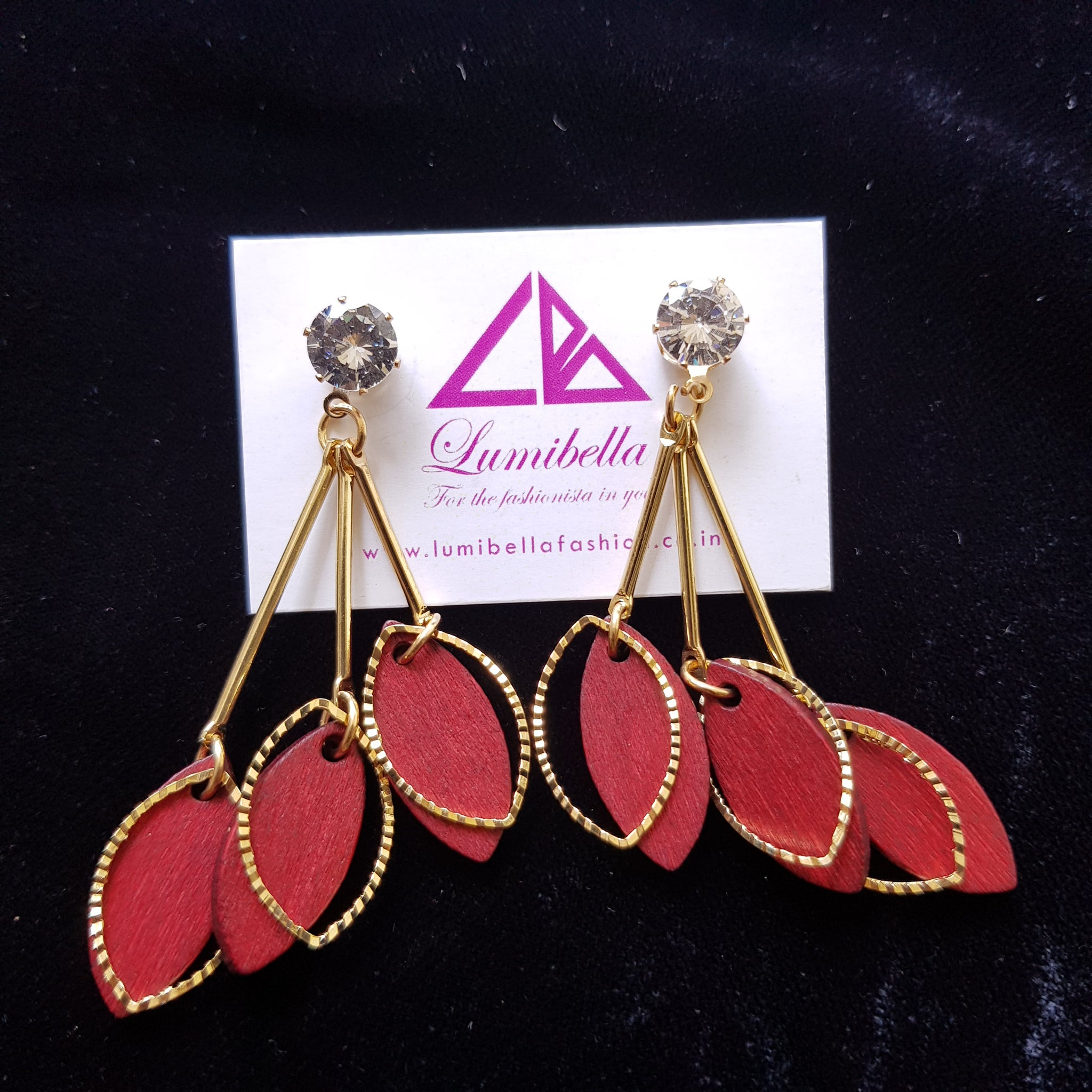 Wooden Dangler Earrings