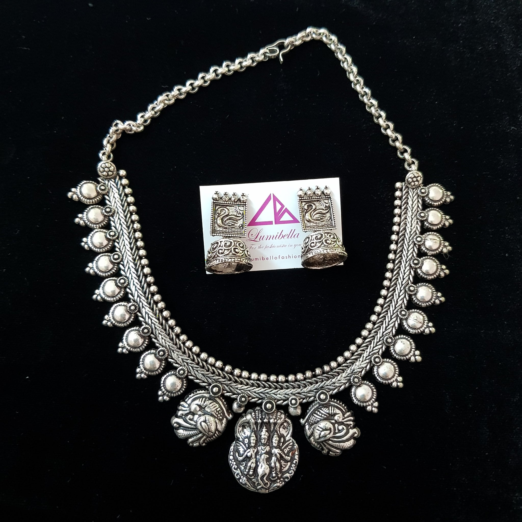 GS Temple Style Neckset with Jhumki