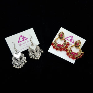 Combo 1 - Designer and German silver Earrings