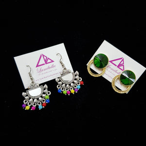 Combo 2 - Designer and German silver Earrings