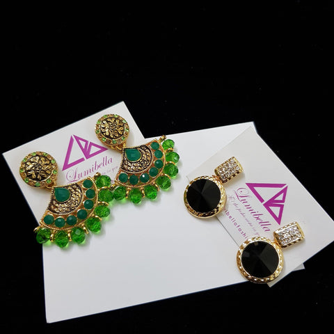 Combo 5 - Designer and Gold stud Cheap Earrings