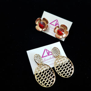 Combo 7 - Designer Stud and Designer long Earrings