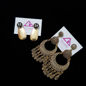 Combo 9 - Designer Stud and German silver Earrings