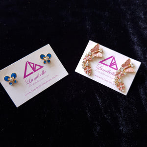 Combo 15 - Designer Butterfly Stud Earrings and Blue Stud Earrings